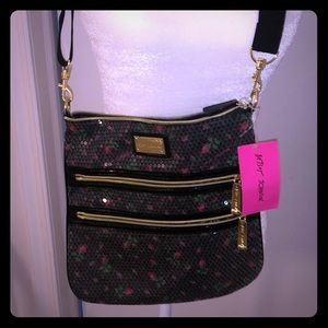 Never used sequin roses bag